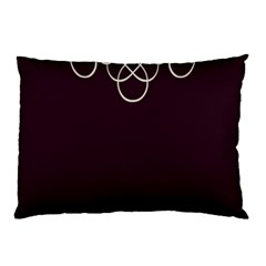 Black Cherry Scrolls Purple Pillow Case (two Sides)