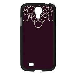 Black Cherry Scrolls Purple Samsung Galaxy S4 I9500/ I9505 Case (black) by Mariart