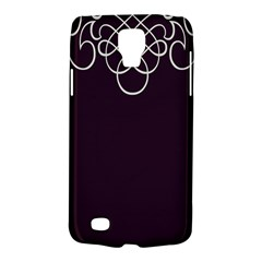 Black Cherry Scrolls Purple Galaxy S4 Active by Mariart