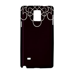 Black Cherry Scrolls Purple Samsung Galaxy Note 4 Hardshell Case by Mariart