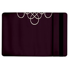 Black Cherry Scrolls Purple Ipad Air 2 Flip by Mariart