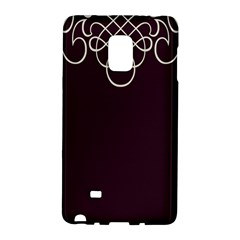Black Cherry Scrolls Purple Galaxy Note Edge by Mariart