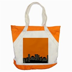 City Building Orange Accent Tote Bag by Mariart