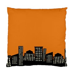 City Building Orange Standard Cushion Case (one Side) by Mariart