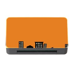 City Building Orange Memory Card Reader With Cf by Mariart