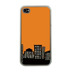 City Building Orange Apple Iphone 4 Case (clear) by Mariart