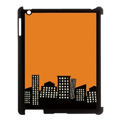 City Building Orange Apple Ipad 3/4 Case (black) by Mariart