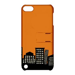 City Building Orange Apple Ipod Touch 5 Hardshell Case With Stand by Mariart