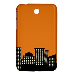 City Building Orange Samsung Galaxy Tab 3 (7 ) P3200 Hardshell Case  by Mariart