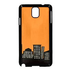 City Building Orange Samsung Galaxy Note 3 Neo Hardshell Case (black) by Mariart