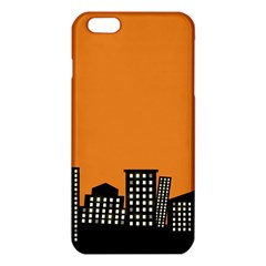 City Building Orange Iphone 6 Plus/6s Plus Tpu Case by Mariart
