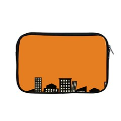 City Building Orange Apple Macbook Pro 13  Zipper Case by Mariart