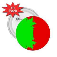 Critical Points Line Circle Red Green 2 25  Buttons (10 Pack)