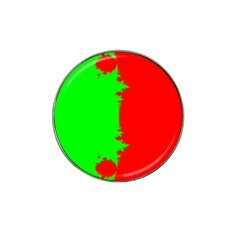 Critical Points Line Circle Red Green Hat Clip Ball Marker (4 Pack) by Mariart