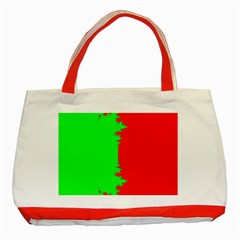 Critical Points Line Circle Red Green Classic Tote Bag (red) by Mariart
