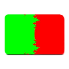 Critical Points Line Circle Red Green Plate Mats by Mariart