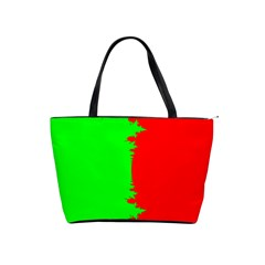 Critical Points Line Circle Red Green Shoulder Handbags by Mariart