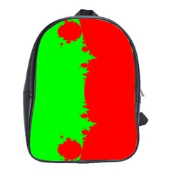 Critical Points Line Circle Red Green School Bags(large)