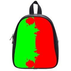 Critical Points Line Circle Red Green School Bags (small)  by Mariart