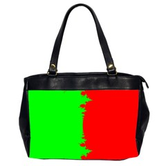 Critical Points Line Circle Red Green Office Handbags (2 Sides)  by Mariart