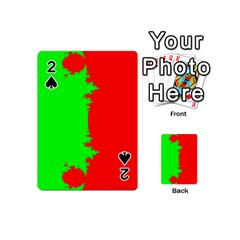 Critical Points Line Circle Red Green Playing Cards 54 (mini)  by Mariart