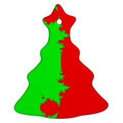 Critical Points Line Circle Red Green Ornament (christmas Tree)  by Mariart