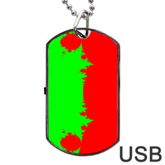 Critical Points Line Circle Red Green Dog Tag Usb Flash (two Sides) by Mariart