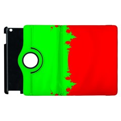 Critical Points Line Circle Red Green Apple Ipad 3/4 Flip 360 Case by Mariart