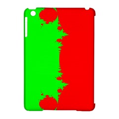 Critical Points Line Circle Red Green Apple Ipad Mini Hardshell Case (compatible With Smart Cover) by Mariart