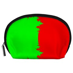 Critical Points Line Circle Red Green Accessory Pouches (large)  by Mariart