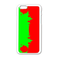 Critical Points Line Circle Red Green Apple Iphone 6/6s White Enamel Case by Mariart