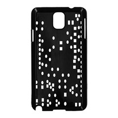 Circle Plaid Black White Samsung Galaxy Note 3 Neo Hardshell Case (black) by Mariart