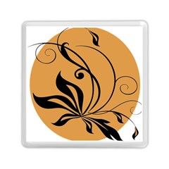 Black Brown Floral Symbol Memory Card Reader (square)  by Mariart