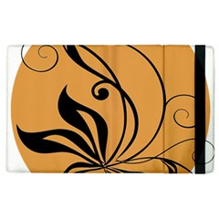 Black Brown Floral Symbol Apple Ipad 3/4 Flip Case by Mariart