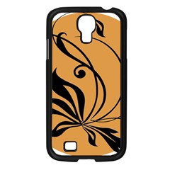 Black Brown Floral Symbol Samsung Galaxy S4 I9500/ I9505 Case (black) by Mariart