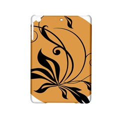 Black Brown Floral Symbol Ipad Mini 2 Hardshell Cases by Mariart