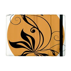 Black Brown Floral Symbol Ipad Mini 2 Flip Cases by Mariart