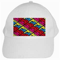 Color Red Yellow Blue Graffiti White Cap by Mariart