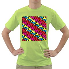 Color Red Yellow Blue Graffiti Green T Shirt by Mariart