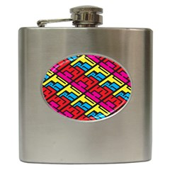 Color Red Yellow Blue Graffiti Hip Flask (6 Oz) by Mariart