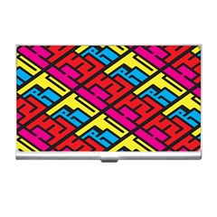 Color Red Yellow Blue Graffiti Business Card Holders by Mariart