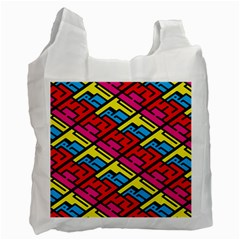 Color Red Yellow Blue Graffiti Recycle Bag (one Side) by Mariart