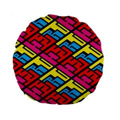 Color Red Yellow Blue Graffiti Standard 15  Premium Round Cushions by Mariart