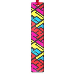 Color Red Yellow Blue Graffiti Large Book Marks by Mariart
