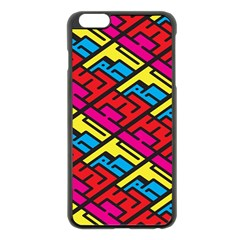 Color Red Yellow Blue Graffiti Apple Iphone 6 Plus/6s Plus Black Enamel Case by Mariart