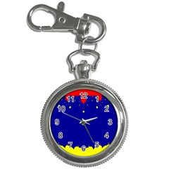Critical Points Line Circle Red Blue Yellow Key Chain Watches by Mariart