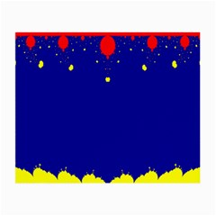 Critical Points Line Circle Red Blue Yellow Small Glasses Cloth by Mariart