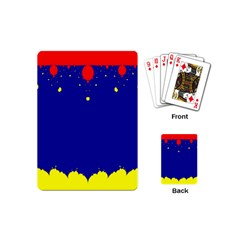 Critical Points Line Circle Red Blue Yellow Playing Cards (mini)  by Mariart