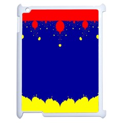 Critical Points Line Circle Red Blue Yellow Apple Ipad 2 Case (white) by Mariart
