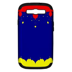 Critical Points Line Circle Red Blue Yellow Samsung Galaxy S Iii Hardshell Case (pc+silicone) by Mariart